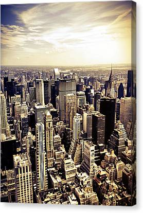 New York City Skyscrapers Canvas Print by Vivienne Gucwa