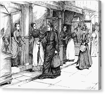 New York Milliner, 1889 Canvas Print by Granger