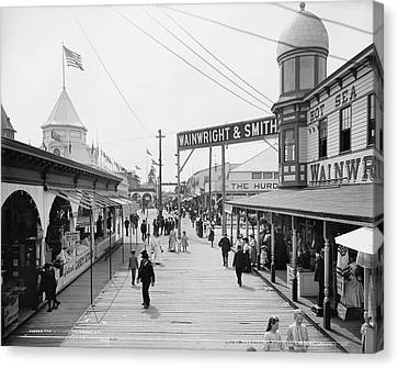 Bowery Canvas Print - New York Rockaway, C1903 by Granger