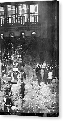 New York Stock Exchange, 1907 Canvas Print by Science Photo Library