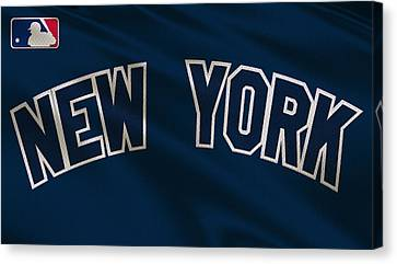 New York Yankees Uniform Canvas Print by Joe Hamilton
