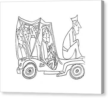 New Yorker February 5th, 1944 Canvas Print by Saul Steinberg