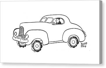 Old Car Canvas Print - New Yorker January 17th, 1942 by Robert J. Day