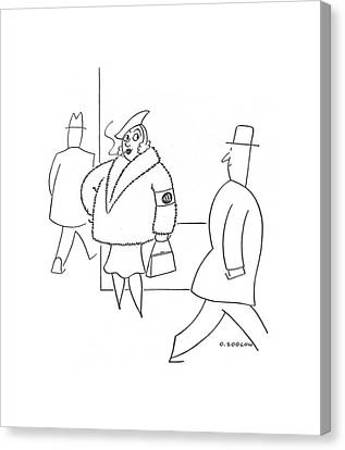 New Yorker January 3rd, 1942 Canvas Print by Otto Soglow