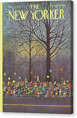 New Yorker November 25th, 1972 Canvas Print by Charles E. Martin