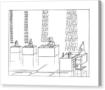 New Yorker September 19th, 1977 Canvas Print by Saul Steinberg