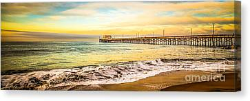 Newport Beach California Pier Panorama Photo Canvas Print by Paul Velgos