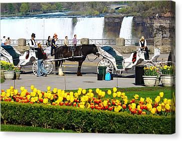 Niagara Falls Carriage Ride Canvas Print by Rexford L Powell
