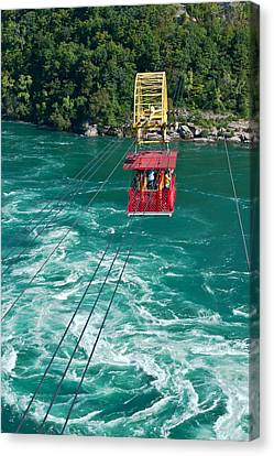 Canvas Print featuring the photograph Niagara River Cable Car by Marek Poplawski