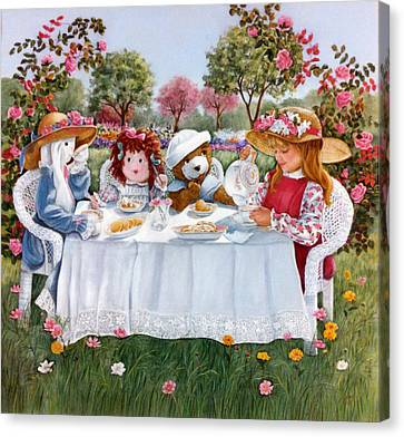 Nicole's Magic Tea Party Canvas Print