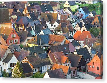 Niedermorschwihr, Alsace, France Canvas Print by Peter Adams