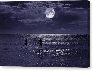 Night Boarders Canvas Print by Laura Fasulo