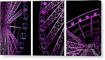 Night Ferris Wheel Canvas Print
