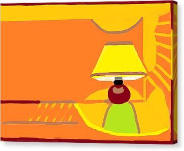 Night Lamp  Canvas Print by Anita Dale Livaditis