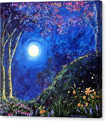 Night Lilies Canvas Print