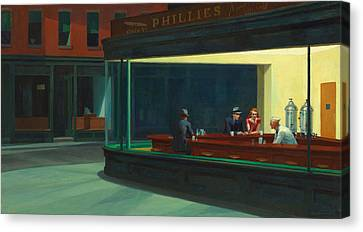 Big Apple Canvas Print - Nighthawks by Edward Hopper