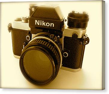 Nikon F2 Classic Camera Canvas Print by John Colley