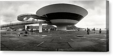 Niteroi Contemporary Art Museum Canvas Print by Panoramic Images