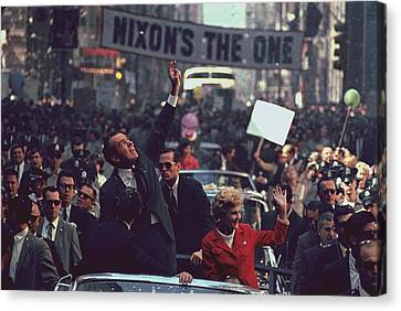 Nixon 1968 Presidential Campaign Canvas Print by Everett