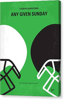 Football Canvas Print - No420 My Any Given Sunday Minimal Movie Poster by Chungkong Art