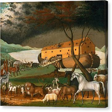 Noahs Ark Canvas Print by Edward Hicks