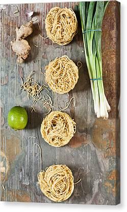 Italian Kitchen Canvas Print - Noodles by Tom Gowanlock