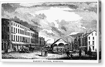 Norfolk, Virginia, 1856 Canvas Print by Granger