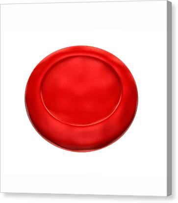Normal Red Blood Cell Canvas Print by Harvinder Singh