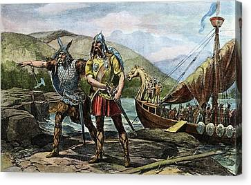 Norsemen Landing, C1000 Canvas Print by Granger