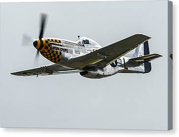 North American P-51d Mustang Canvas Print by Puget  Exposure