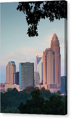 North Carolina, Charlotte, Elevated Canvas Print by Walter Bibikow