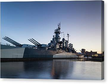 North Carolina, Wilmington, Battleship Canvas Print by Walter Bibikow