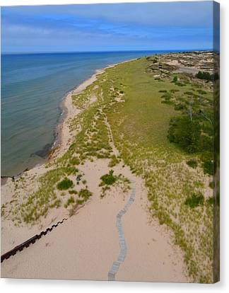 North Of Big Sable Point 2 Canvas Print by Michelle Calkins