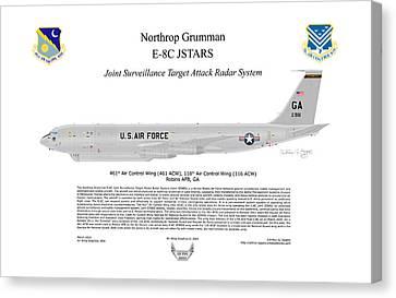 Northrop Grumman E-8c Jstars Canvas Print by Arthur Eggers