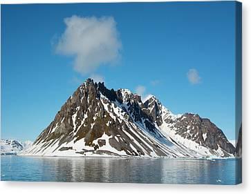 Norway Svalbard Hornsund Heavily Eroded Canvas Print