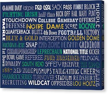 Notre Dame Football Canvas Print