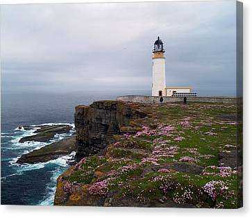Noup Head Lighthouse Canvas Print by Steve Watson