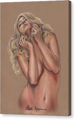 Nude Canvas Print by Leida Nogueira