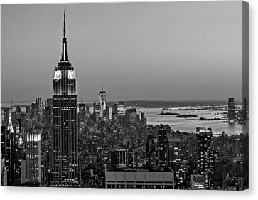 Exchange Place Canvas Print - Nyc Top Of The Rock by Susan Candelario