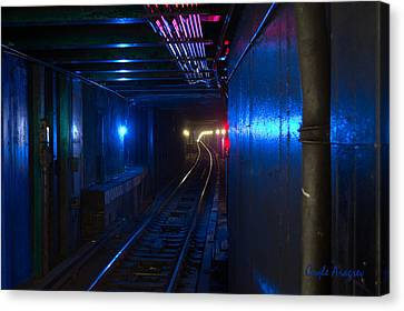 Nyc Underground Colors Canvas Print by Coqle Aragrev