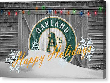 Oakland Athletics Canvas Print