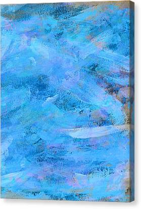 Ocean Blue Abstract Canvas Print by Frank Tschakert
