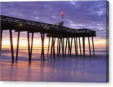 Ocean City Sunrise Canvas Print by Dan Myers