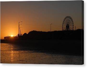 Ocean City Sunset Canvas Print by Dan Myers
