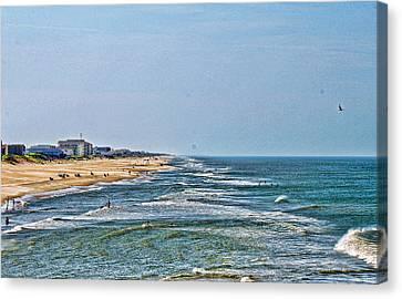 Ocean Front Canvas Print by Carolyn Ricks