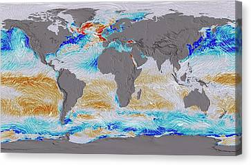 Co2 Canvas Print - Ocean Surface Co2 And Winds by Nasa's Scientific Visualization Studio