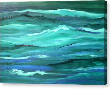 Ocean Swell Abstract Painting By V.kelly Canvas Print