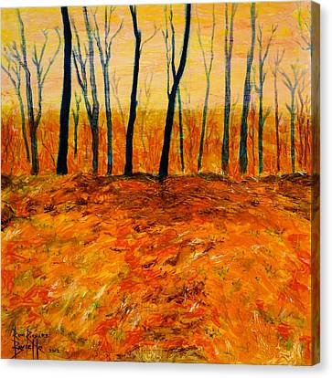 October Canvas Print by Ron Richard Baviello