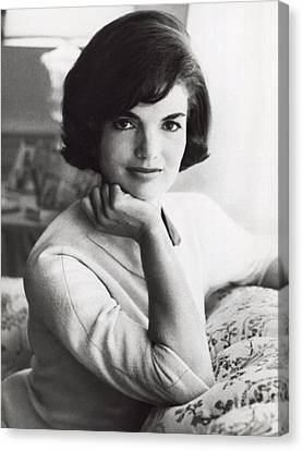Official Photograph Of Jackie Canvas Print by Underwood Archives