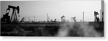 Oil Canvas Print - Oil Drills In A Field, Maricopa, Kern by Panoramic Images